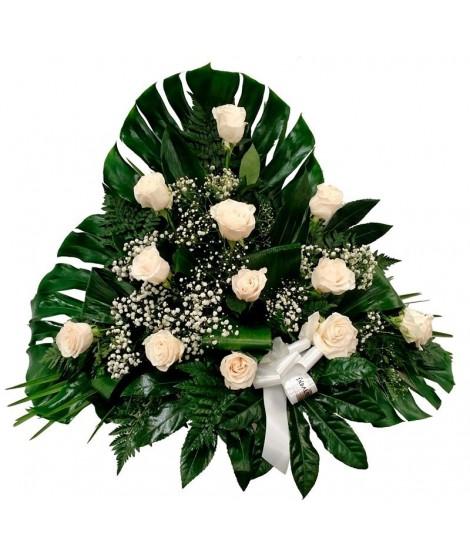 Centro 2 - 12 rosas blancas