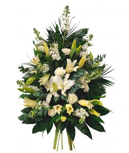 Ramo funeral tonos blancos