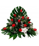 Centro 1 - 12 rosas rojas