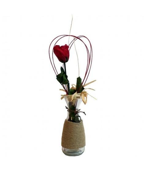 Rosa natural preservada con jarrón