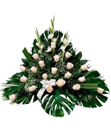 Centro 7 - 20 rosas blancas