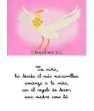 "Tarjeta nacimiento niña""CIGÜEÑA"""