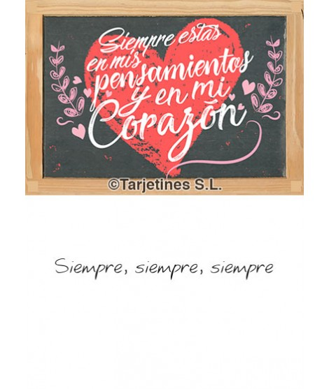 Tarjeta Te Quiero 1