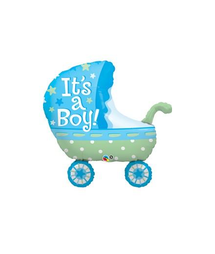 Globo Foil Carrito It´s a Boy Baby