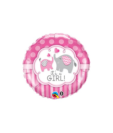 Globo foil It´s a Girl Elephants