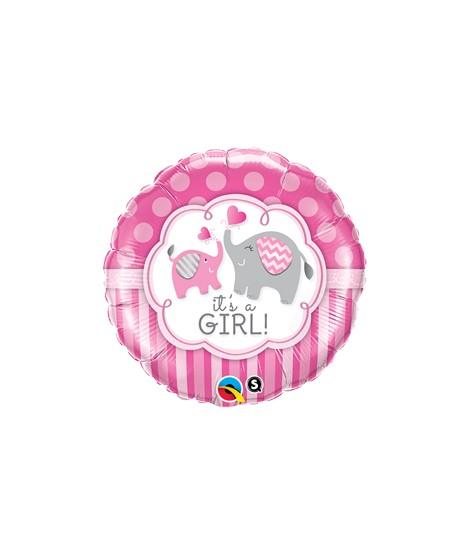 Globo foil It´s a Girl Elephants