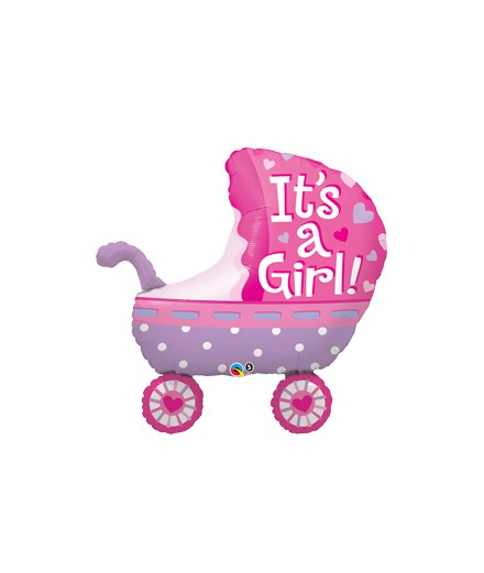 Globo Foil Carrito It´s a Girl Baby