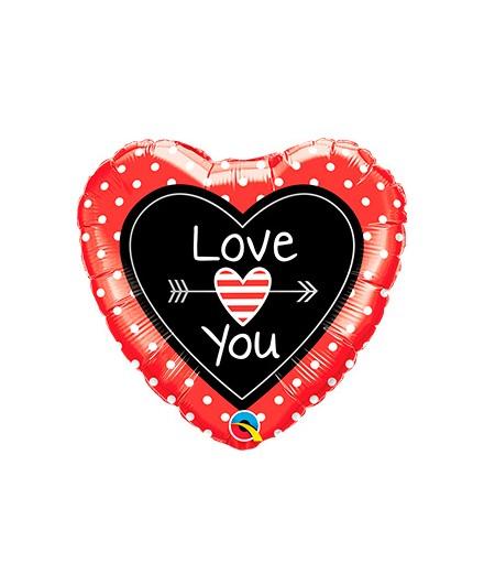 Globo foil Love You