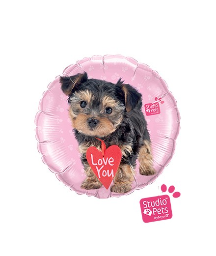 Globo foil Love You Terrier