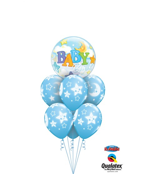 BOUQUET BABY BOY 7 GLOBOS