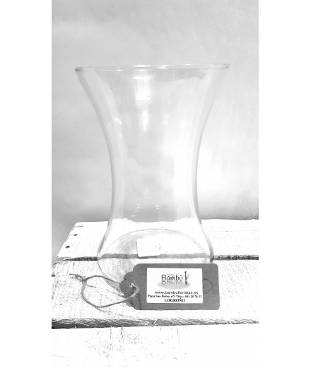 Florero de cristal 20x13 cm.