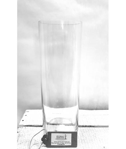 Florero de cristal 30x10 cm.