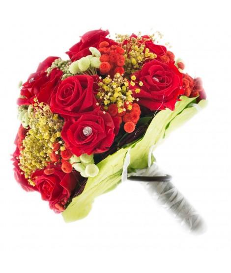 Ramo novia flor preservada Nº 6