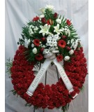 Corona funeraria 1 cabezal, color rojo