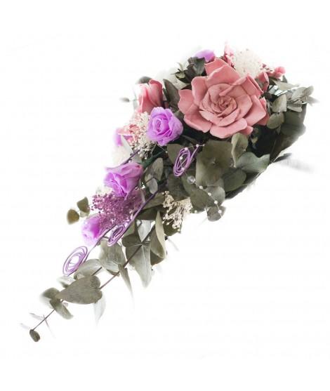 Ramo novia flor preservada Nº 12