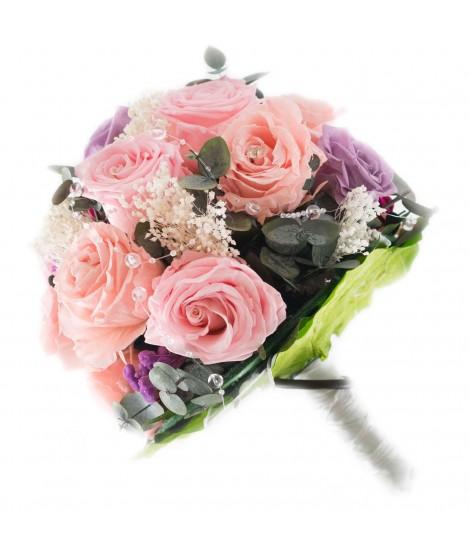 Ramo novia flor preservada Nº 7