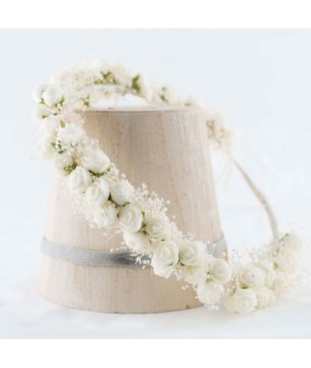 Diadema de flor preservada Nº 2