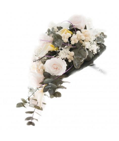 Ramo novia flor preservada Nº 13