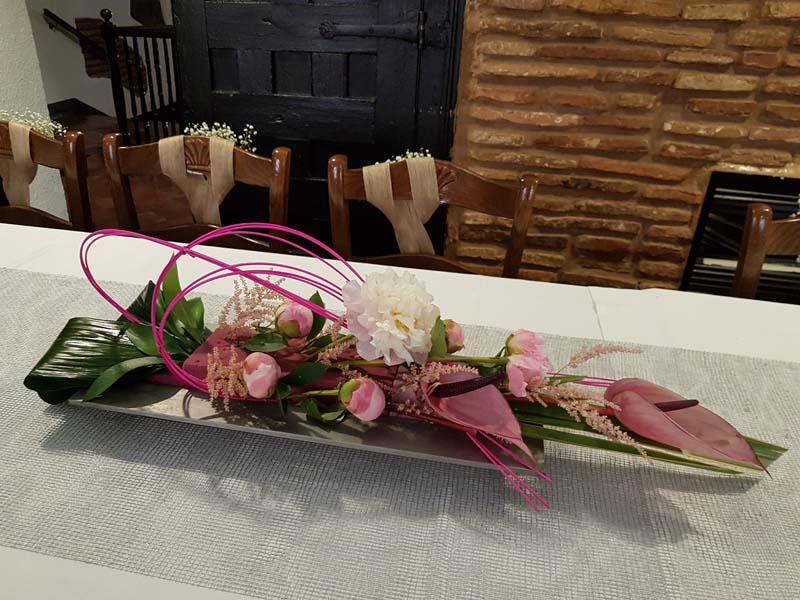 Decoración floral de restaurante